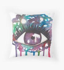 Cosmic Splash Eye Throw Pillow