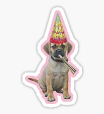 Puggle Birthday Sticker