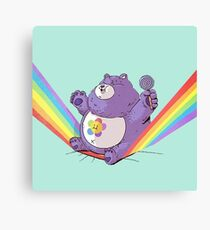 Sitting on a rainbow Canvas Print