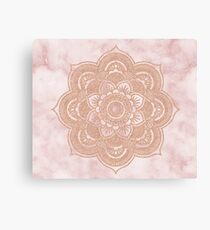 Lienzo Mandala de oro rosa - mármol rosa