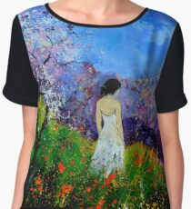 summer walk in the poppies  Chiffon Top