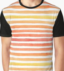 Sunny watercolor strokes Graphic T-Shirt