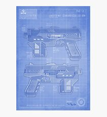 Lawgiver MKII Blueprint Photographic Print
