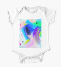 Colorfull Abstract Painting One Piece - Short Sleeve