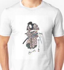 C-035 Samurai cleaning his Katana Unisex T-Shirt