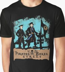 Pirates of the Baker Street. Sherlock and Watson. Graphic T-Shirt