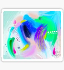 Colorfull Abstract Painting Sticker