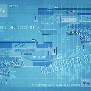 Lawgiver Snubnose Blueprint by strangelysaucy
