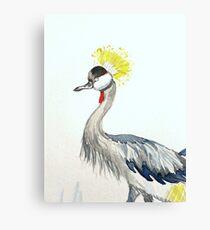 Yellow Grey Crowned Crane  Canvas Print