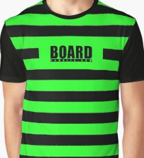 Zombie Punky Green Loud Stripe Logo By BoardZombies Graphic T-Shirt