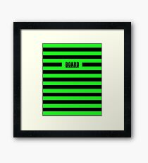 Zombie Punky Green Loud Stripe Logo By BoardZombies Framed Print
