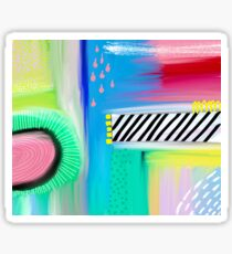 Colorful Abstract Painting Sticker