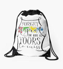 Forget Regret Drawstring Bag