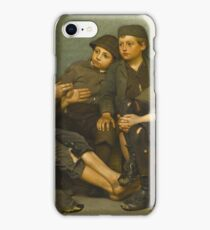 John George Brown - A Tough Story iPhone Case/Skin