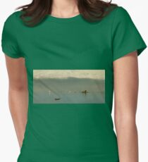 John Frederick Kensett - Passing Off Of The Storm Womens Fitted T-Shirt
