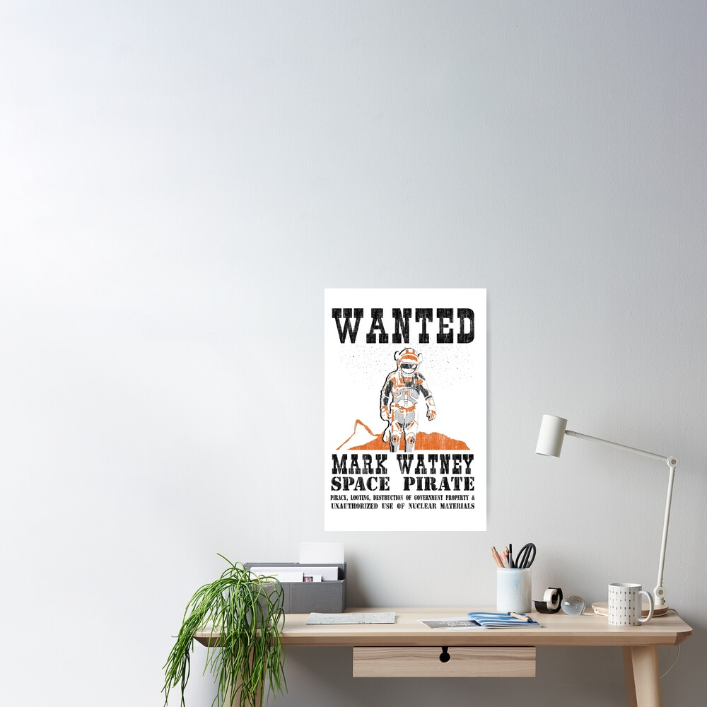 Wanted! Space Pirate Poster