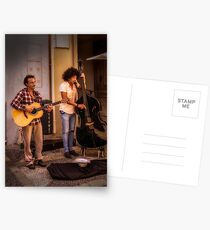 Street buskers in Malaga Postcards