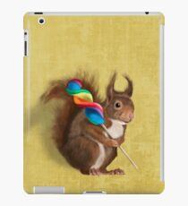 Squirrel with lollipop iPad Case/Skin