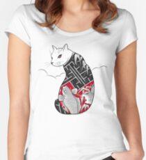 Cats Hidden Life Women's Fitted Scoop T-Shirt