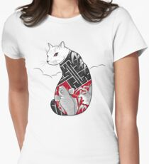 Cats Hidden Life Womens Fitted T-Shirt