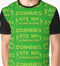 Zombies Ate My Homework Graphic T-Shirt