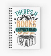 Cuaderno de espiral Hay un millón de libros que no he leído ...