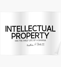 intellectual property - bill gates  Poster