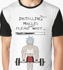 Rick and Morty. Installing muscles. Graphic T-Shirt