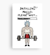 Rick and Morty. Installing muscles. Metal Print