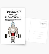 Rick and Morty. Installing muscles. Postcards