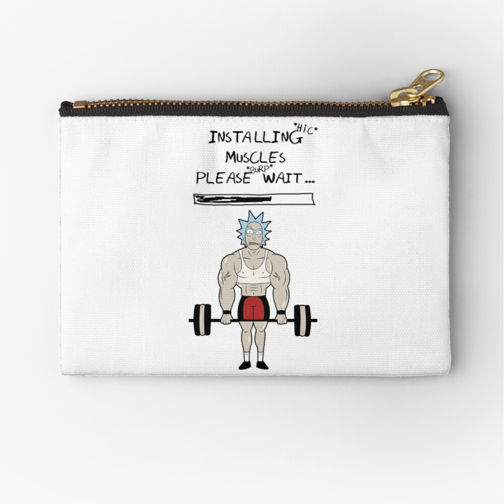 Rick and Morty. Installing muscles. Zipper Pouch