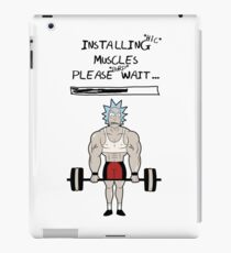 Rick and Morty. Installing muscles. iPad Case/Skin