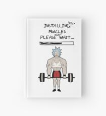 Rick and Morty. Installing muscles. Hardcover Journal