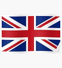 Union Jack, Flag of the United Kingdom, Britain, British flag, Pure and Simple Poster