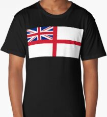 White Ensign, Flag, Royal Navy, Ships, St George's Cross, St George's Ensign, Navy, Blue Long T-Shirt