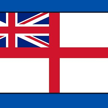 White Ensign, Flag, Royal Navy, Ships, St George's Cross, St George's Ensign, Navy, on Blue by TOMSREDBUBBLE
