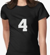 Sports Team Jersey T Shirt - Number Front & Back Player Women's Fitted T-Shirt