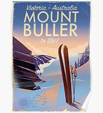 Mount Buller Australia vintage Ski poster Poster