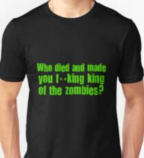 'King of the Zombies' Shaun of The Dead  Unisex T-Shirt