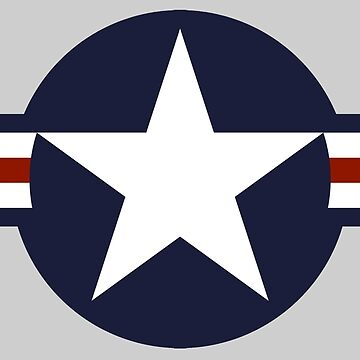 AIR FORCE, AMERICAN, USAF, Roundel, United States Air Force, aircraft, United States Navy, United States Marine Corps, on Grey by TOMSREDBUBBLE
