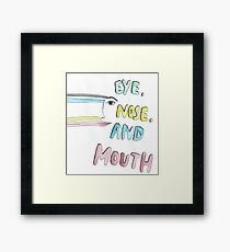 eye, nose and mouth Framed Print
