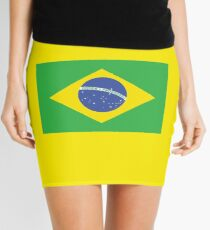 BRAZIL, BRAZILIAN FLAG, FLAG OF BRAZIL, PURE & SIMPLE, Brazil, Football, Soccer, Olympics, on Yellow Minirock