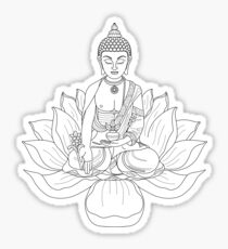 zen buddha lotus outline Sticker