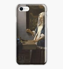 Johannes Vermeer - Woman Holding A Balance (1664 - C. 1664) iPhone Case/Skin