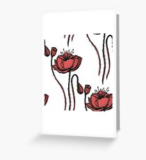 poppy graphic floral spring graphic Greeting Card