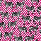Zebramuster, Kinder Kunst, lustige Kunst, Tier, Kinderzimmer, moderne Kunst, Wandkunst, Print, minimalistisch, modern, Humor, schwarz und weiß, rosa Chevron von juliaemelian