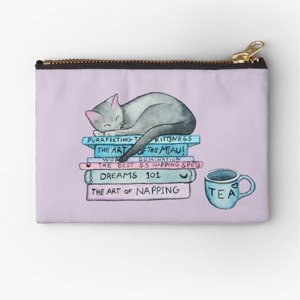 The Art of the Miau Zipper Pouch