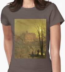 John Atkinson Grimshaw - Under The Moonbeams Womens Fitted T-Shirt