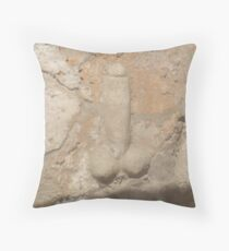 Pompeii, Stone, Stone Penis, Sculpture, Penis, Knob, Phallic, Brothel Sign, Phallus, Cock Throw Pillow