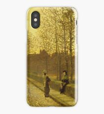 John Atkinson Grimshaw - In The Golden Gloaming iPhone Case/Skin
